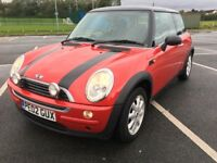 MINI ONE 1.6 2002 02 REG LOW MILAGE 12 MONTHS FULL SERVICE HISTORY