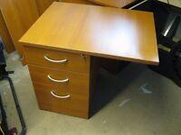 Mahogany Small office desk & draws