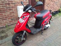 2007 Gilera Storm 50 automatic scooter, 2 stroke, new 1 year MOT, same as classic Typhoon, not zip