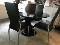 Dinner Table and 6 chairs, with matching lamp table