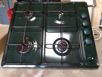 Stoves green enamel gas hob. Used