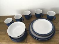 Denby Blue Imperial Set