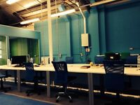 6 desks available now from £300.00 per desk per month