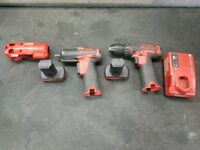 Snapon 14.4v 3/8 impact gun and drill with impact gun boot, 2 batteries and charger