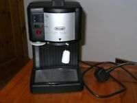 DeLonghi Coffee Maker with instructions, as new