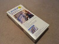 Lindham soft folding bed rail blue