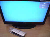 """LCD tv/dvd 26"""" MINT CONDITION c/w REMOTE,BOXED,User Booklet & receipt FAULTY £25"""