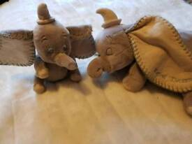 Large and baby Dumbo soft toy set