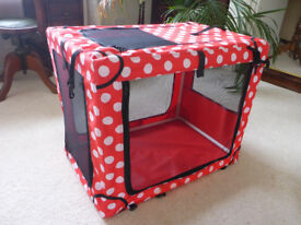 Dog or Cat Fabric Kennel, medium size, for car or home, collapsible