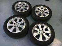 Vauxhall Vectra Astra 16ins Alloys, x 4 With Tyres