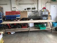 3.4m garage workshop bench work station