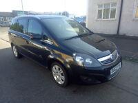 Vauxhall zafira 2013 black low mileage petrol manual full sevice history