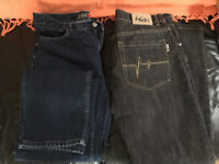2 x new pairs of jeans for sale .