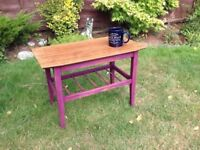 Vintage coffee table 1960's retro, shabby chic, up cycled trendy, side table, foot stool
