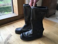 Size 40 Leather motorbike boots