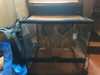 Exo Terra glass vivarium with two lights and light canopy