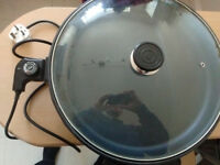 electric pizza pan and multi cooker (40 cm diameter approx)