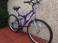 Girls /Ladies full suspension mountain bike