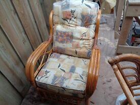 Cane furniture suite