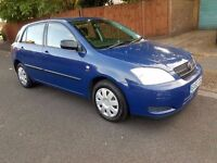 Hpi Clear* Cheap* 2002 Toyota Corolla 1.6 Petrol Manual 5 Doors Dark Blue NOT Yaris Civic Auto Honda