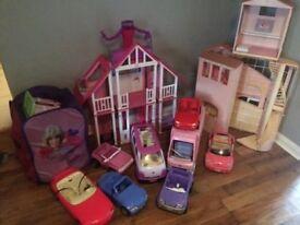 Barbie houses etc