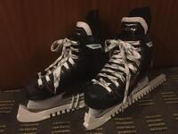 Size 35 Hockey Skates with Blade Protectors Included