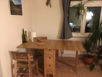 IKEA NORDEN folding dining table- great condition! PLUS two chairs and matching bench (optional)