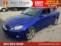 2010 LEXUS IS250C CONVERTIBLE COUPE LOW KM 90 DAY NO PAYMENT