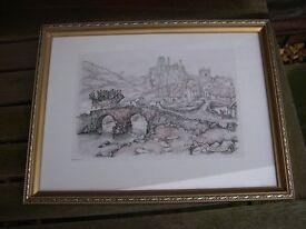 Three Anton Pieck framed and glazed prints.