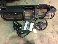 Mk6 golf airbag kit , dash , belts , module etc 2009-2013 Models 5dr
