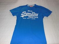 Real Super Dry Tee Shirt, small size, very good condition, Blue, collect.