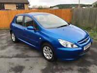 PEUGEOT 307S 1.6i 05-05 MOT JUNE 2017 99K VERY CLEAN CAR THROUGHOUT EXCELLENT VALUE FOR ONLY £699