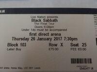 Black Sabbath Ticket
