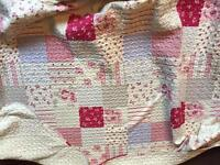 Pink quilted blanket. 2m x 2m