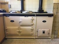 1950's AGA stove and boiler in cream