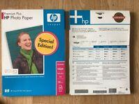 HP Photo Paper Premium plus 40 sheets.
