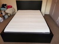 Ikea Malm double bed frame and mattress incl 2 drawers