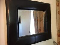 MIRROR / FAUX LEATHER FRAME