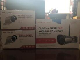 Hikvision camera cctv and foscam