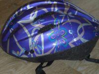 Girls Cycle Bike Helmet Purple Like New size 54-58cm (M)