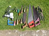 For sale assorted hand tools