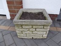 Sandstone Garden Planter Great Condition