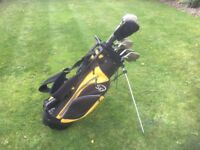 Golf clubs-Driver, 3Wood, matching Nicklaus Irons (3 to SW) putter, golf bag, golf glove, balls-tees