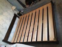 King Size Low Deco Warren Evans Bed Frame In Oak Satin