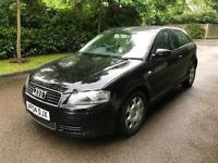 AUDI A3 SPECIAL EDITION 3 DOOR 2004 1.6 BLACK FULLY LOADED ALLOYS