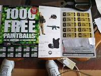 Paintball tickets for sale (x10)