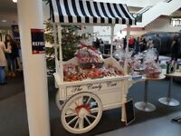 Vintage candy cart