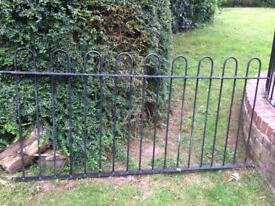 Wrought iron railing for scrap