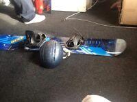 Snowboard & Helmet