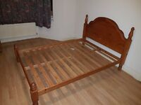 Double Pine wood bed in great condition!